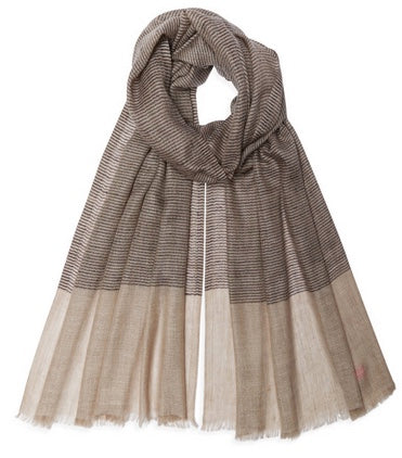 Bonny Pashmina - Black/Natural