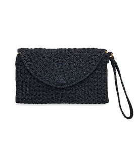 Crochet Purse - Black/Lurex/Navy