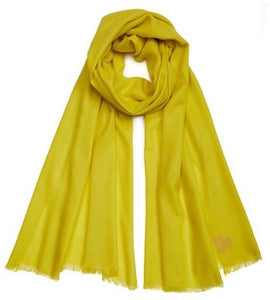 Plain Pashmina - Neon Yellow