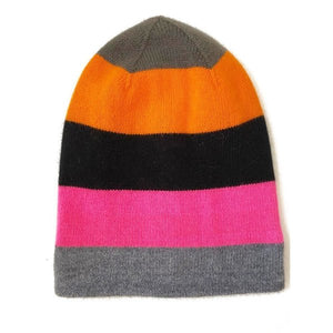 Cashmere Reversible Colourblock Beanie - Multi Colour