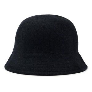 Cashmere/Wool Mix Knit Bucket Hat - Navy