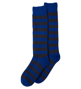 Stripe Cashmere Mix Socks - Blue/Black