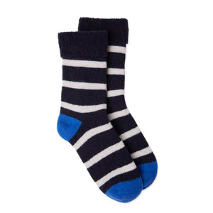 Slipper Socks Breton - Navy/White/Blue