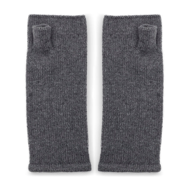 Cashmere Wrist Warmers - Grey