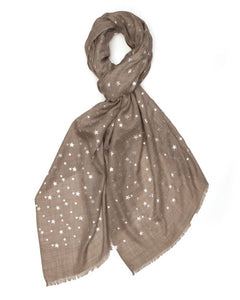 Small Star Pashmina - Silver/Natural