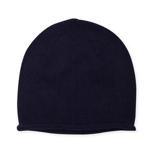 Cashmere Plain Knit Beanie - Black