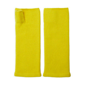 Cashmere Wrist Warmers - Yellow