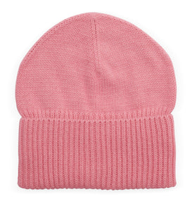 Cashmere Loose Rib Beanie - Pink