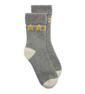 Slipper Socks Star - Grey/Yellow
