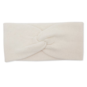 Cashmere Plain Knit Headbands - Cream