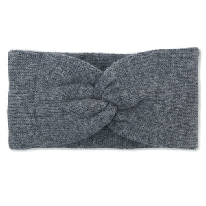 Cashmere Plain Knit Headbands - Grey