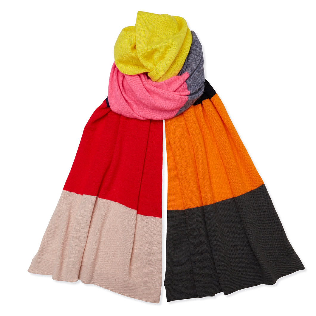 Cashmere Colour Block Scarf