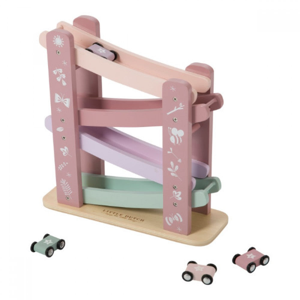 LITTLE DUTCH WOODEN TOY - PINK CAR ROADS