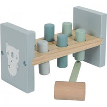 Load image into Gallery viewer, LITTLE DUTCH WOODEN TOY - BLUE HAMMER BENCH