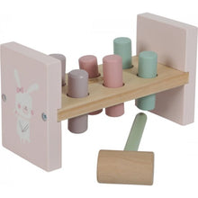 Load image into Gallery viewer, LITTLE DUTCH WOODEN TOY - PINK HAMMER BENCH