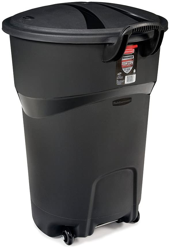 RubberMaid 32 Gal Wheeled Roughneck Refuse Container