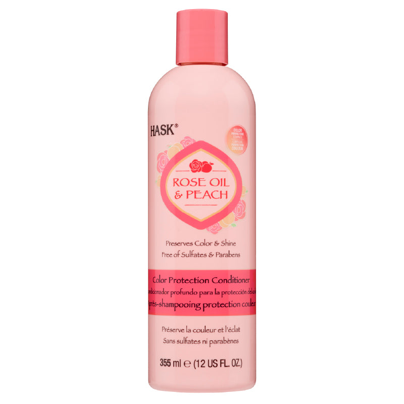Hask Rose Oil & Peach Color Protection Conditioner 12 Oz