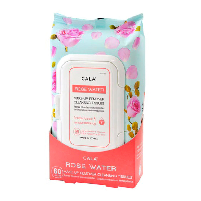 Rose Water Make-Up Remover Cleansing Tissues (60 Sheets/Pk)