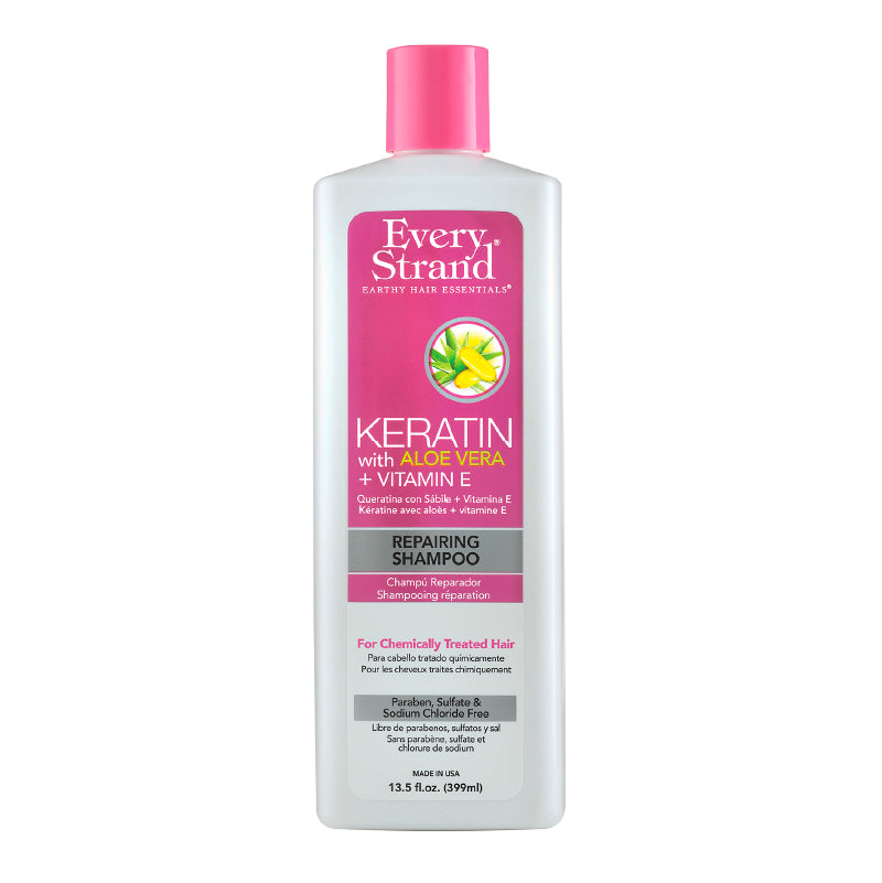 Keratin With Aloe Vera + Vitamin E Repairing Shampoo 399Ml