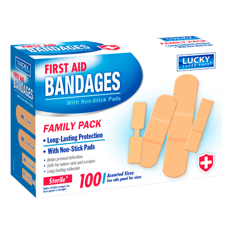 First Aid Bandages 100Pcs