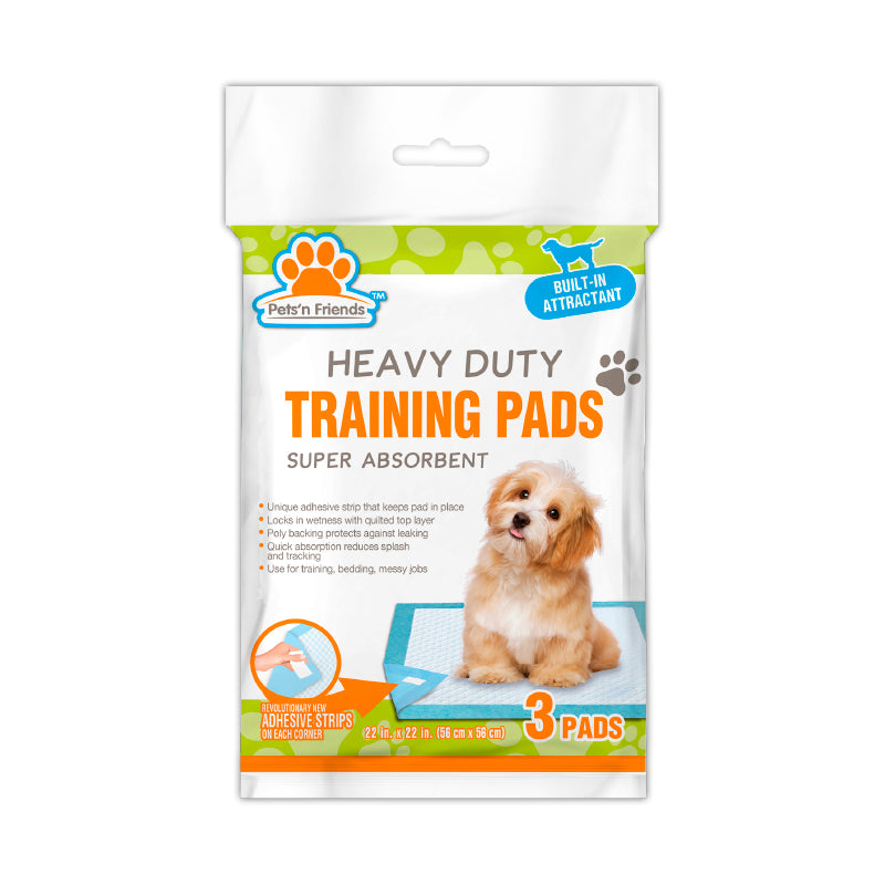 Training Pads- Heavy Duty With Built-In Attractant - 12/3 Ct.