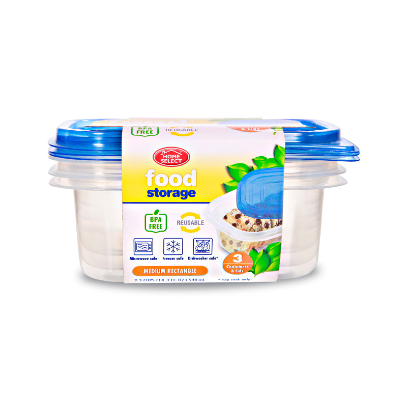 3 Food Storage 2.3 Cups - Medium Rectangle