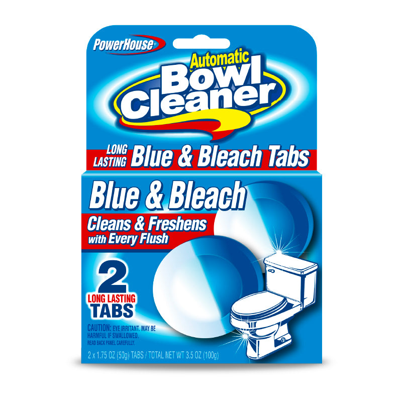 Bowl Cleaner Blue & Bleach Tabs - 2Ct