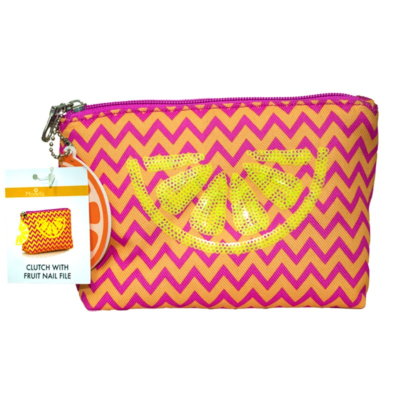 Modella Clutch with Fruit Nail File Rosado