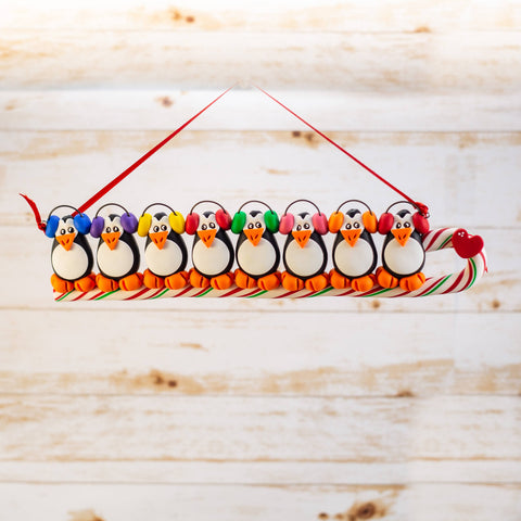Penguin Family of 8