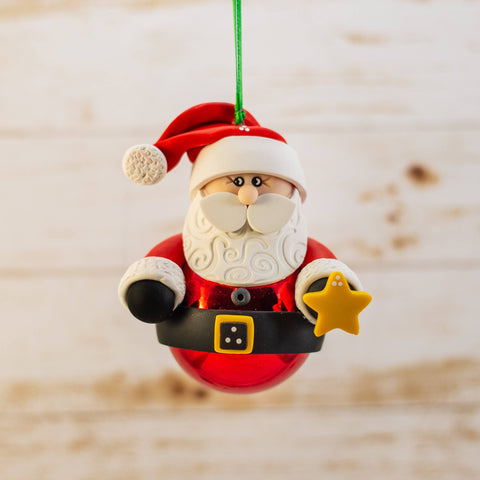 Santa Glassball Ornament