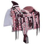 Burgundy Mexican Horse Saddle