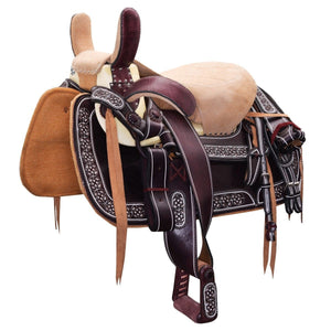 Beige Mexican Horse Saddle