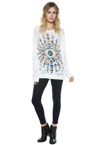 Brenna Color Feather Eye L/S Pullover - Lauren Moshi - 1