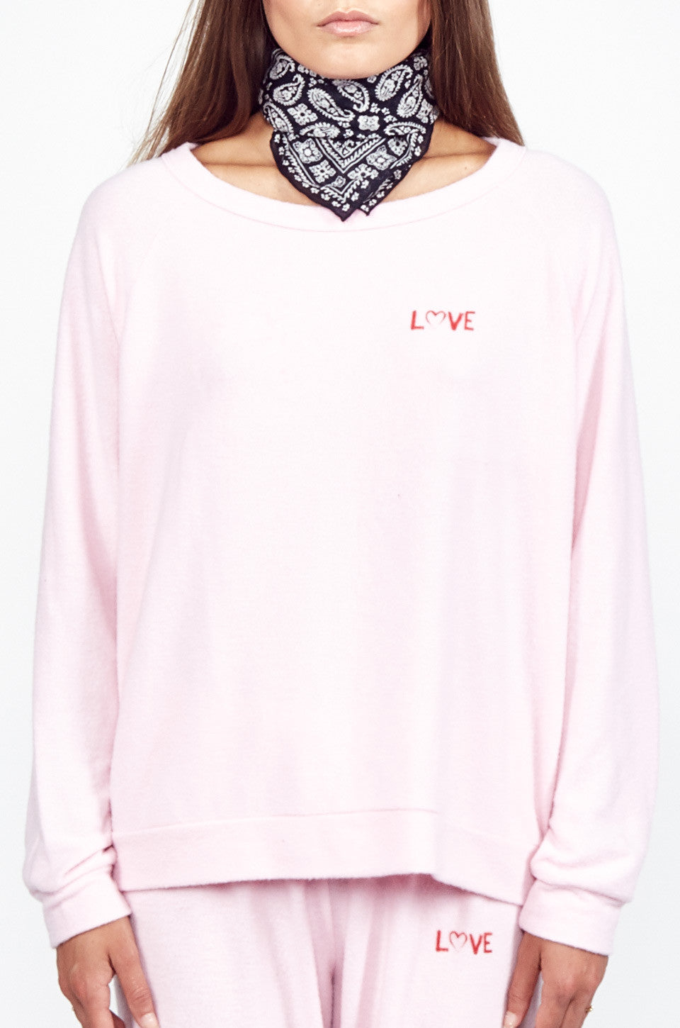 Lauren Moshi Women's X Exclusive X Love Lip Pullover -