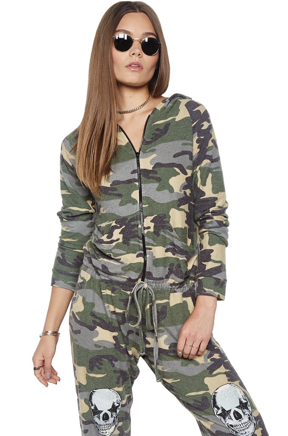 Lauren Moshi Women's X Exclusive X Indy Zip Up Hoodie Jumpsuit - XS