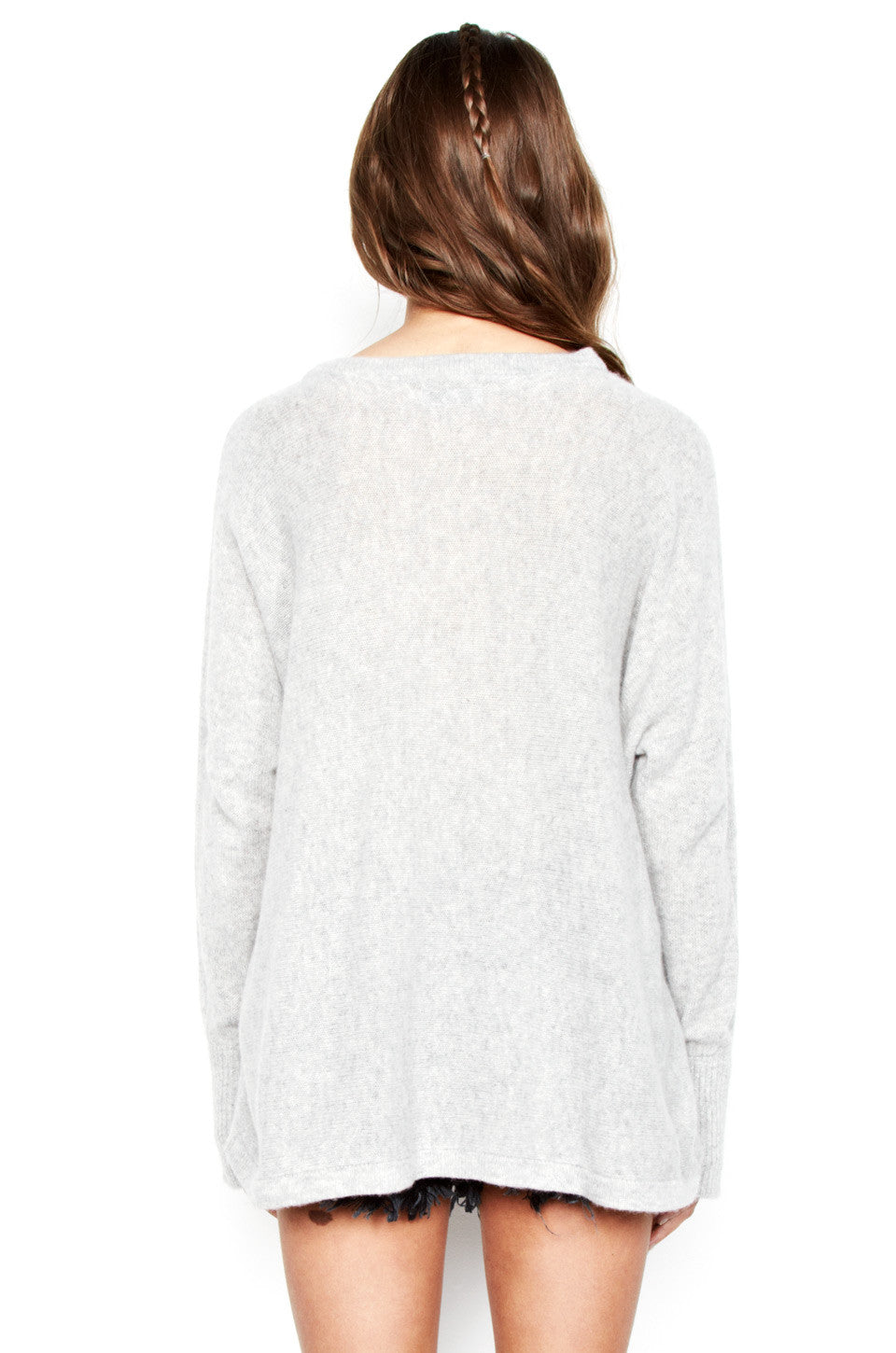 Hollis I'm A Mess L/S Cashmere Pullover Sweater w/Thumbholes - Lauren Moshi - 3