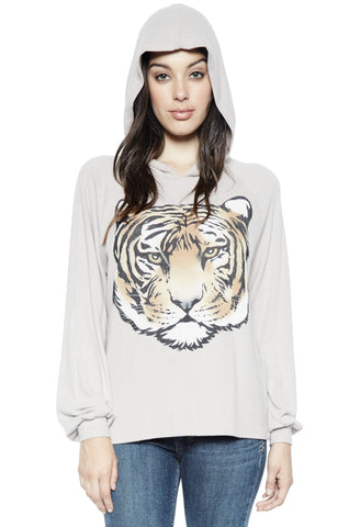 Nat L'Amour w/Stripes L/S V-Neck Pullover