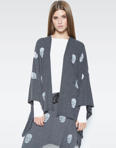 Jojo Mini Heart Skulls Blanket Wrap - Lauren Moshi - 1