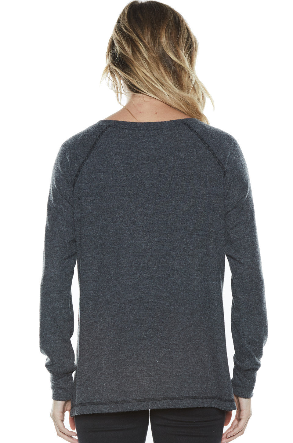 Amor Fashion Kills L/S Pullover Sweater w/Slit - Lauren Moshi - 4