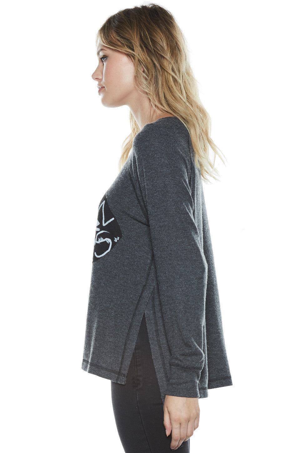 Amor Fashion Kills L/S Pullover Sweater w/Slit - Lauren Moshi - 3
