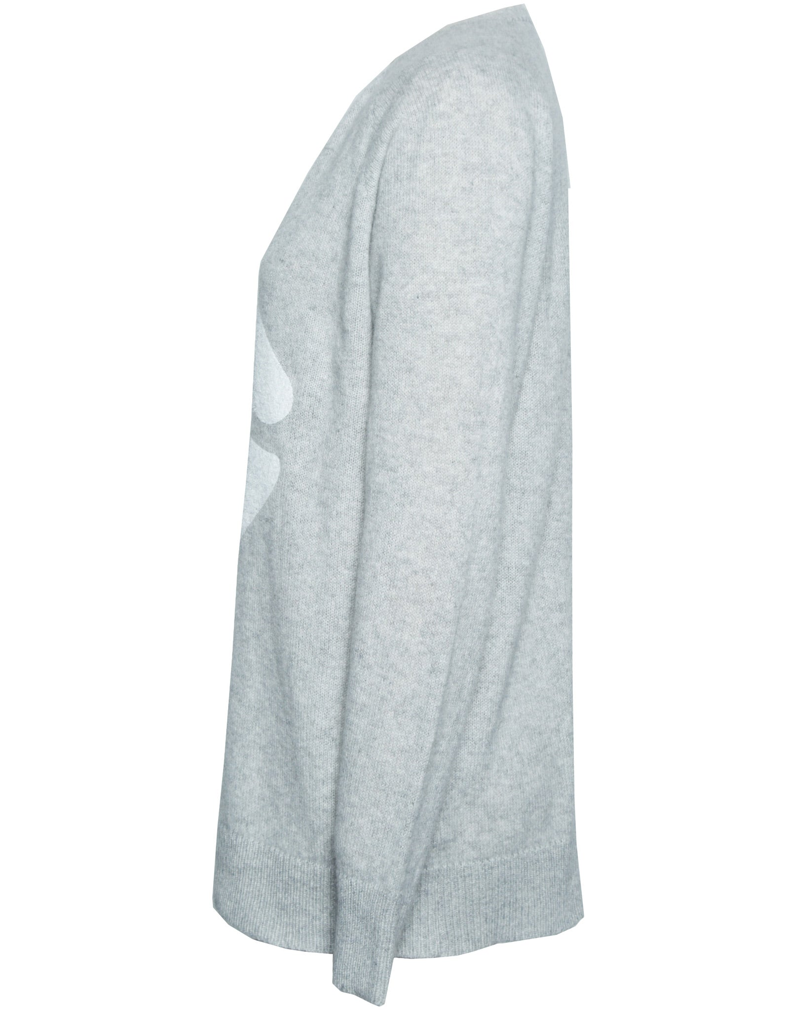 Macall White Mouth Oversized V-Neck Cashmere Sweater - Lauren Moshi - 3