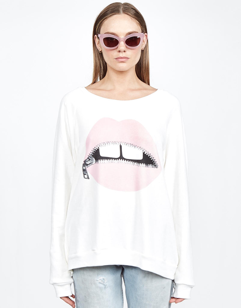 Noleta Pink Foil Zipper Mouth