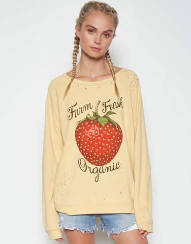 Lassie LA Hands w/ Text L/S Drop Shoulder Oversized Tee