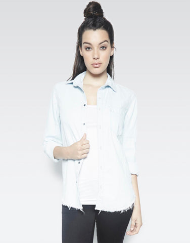 Sloane Glam Face L/S Button Up Denim Shirt - Lauren Moshi - 2