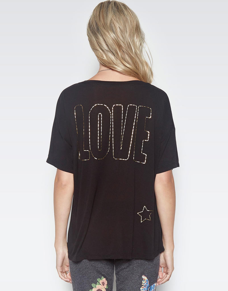 Lucia Foil Stitched Love