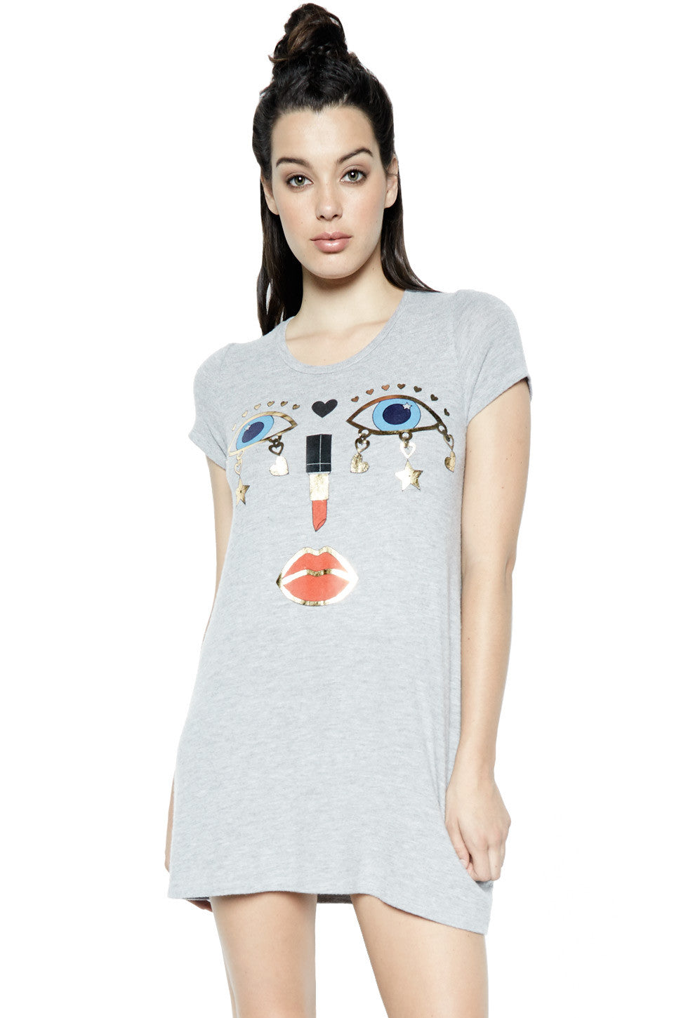 Lana Charm Face S/S Mini T-Shirt Dress - Lauren Moshi