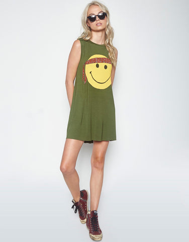 Lauren Moshi Women's Deanna Color Happy Hippie Sleeveless Dress