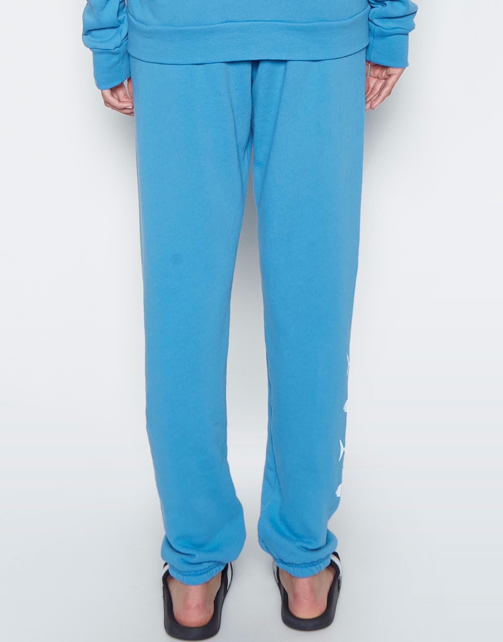 Lauren Moshi Women's Gia Mini Sharks w/ Surf's Up Patch Long Sweatpant - Chill Out