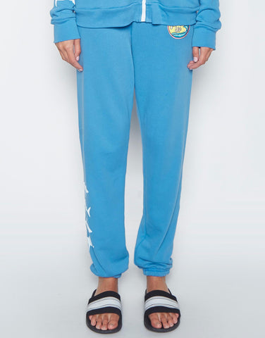 Lauren Moshi Women's Gia Mini Sharks w/ Surf's Up Patch Long Sweatpant