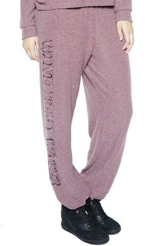 Lauren Moshi Women's Tanzy Wine is My Water Long Pant - Sangria